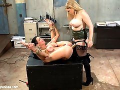Ravenous MILF Veronica Avluv finds herself at the mercy of Goddess Aiden Starr who clamps her...