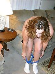 Amateur BBW Woman Modeling Nude
