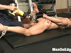 Ripped muscle god, Mitch Vaughn, is taking a piss at the gym when he catches the ever-pervy...