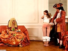A costume spanking punishment