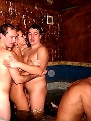 Russian swinger wife Gang Bang pics