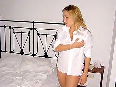 Self made porn shots of hot blonde teen girl