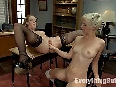 Chloe Camilla gets interrupted while doing an enema in the bathroom by Professor Bauer. He makes...