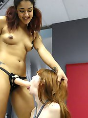 Alexa Nova doesnt stand a chance against Daisy Ducati. Daisy is on a terror, just running...
