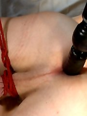 Hung southern stud Zane Anders joins us for another edging session as we tie him up and cover...