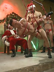 Santas hosting a big party, and hes invited everyone to help him judge whether this whore called...