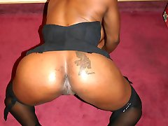 Sexy black babe fucked by a horny stud in the ass