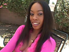 Busty ebony chicks ass takes in hard black cock