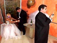 Ebony shemale bride shoving her gargantuan dick in the ass of hot groom