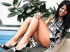 Sexy latina tranny alessandra gets her sweet ass fucked hard in these awesome outdoor sex vids