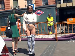 Valentina Bianco is a slutty anal piggy and Satrina shames this whore all around town. She gets...