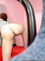Hot shortie goes nasty on spy camera
