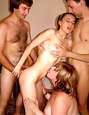 Mature swingers teach young couple