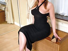 Hot Milf Jackie wears high heels, and these are a pure fetish with pointed fronts, a twin strap...