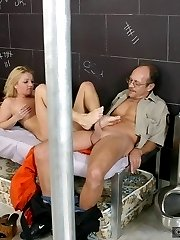 Horny blonde in amazing foot fetish action