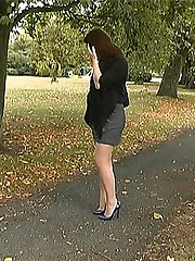 Sara always wears high heels and loves the feeling when her feet are in a good high pair with...