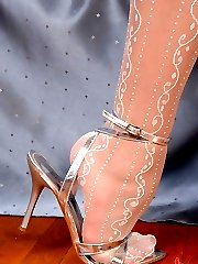 Zafira posing in pantyhose