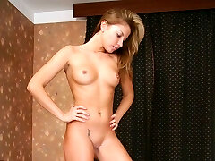Lovely mistress gets naked to feed trussed slave with her pussy soakin humid