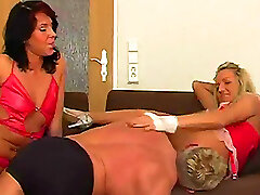 Female Domination threesome with Viola and Jenny