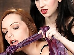 Miss Mina Meow walks in to find Emily Marilyn bent over and tied up. With her perfect ass in the...
