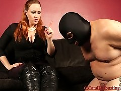 Julie Simone catches her slave breaking her rules. She wants her slave to admit what he did, so...