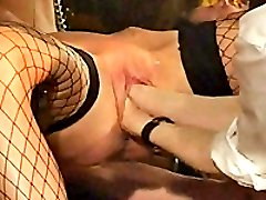Slave girl double fist fucked by her wicked master