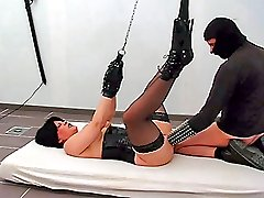 Extreme slave slut fist fucked by her merciless master