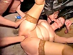 Poor slut violated and fisted by a gang of thugs