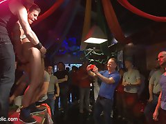 Its Pride weekend, and Alexander Gustavos shaking his money-maker on stage. He riles up the...