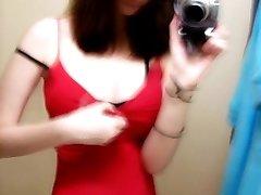 Brunette cutie shows sexy body on webcam