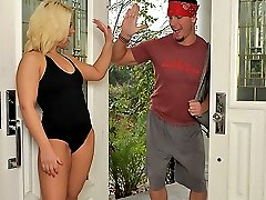 Watch hot personal trainer babe heather get her bangin hairy bush pounded in these hot gym...