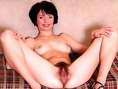 Horny beauty with all natural hairy beaver is a willing fuck!