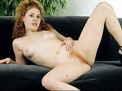 Sweet and innocent redhead gets flaming bush creamed!
