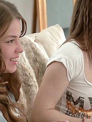 There is nothing hotter than watching an experienced lesbian babe seduce and convince a friend...