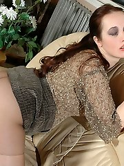 Freaky next-door babe squeezing her round-shaped boobs while cowgirl riding