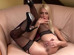 Lena Love Light-haired spreads her legs for you