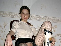 All of my pretty GFs and my lustful sexy wife prefer fucking in favourite nylon stockings.