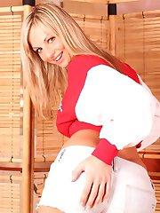 Lovely Tammy parading in her football kit