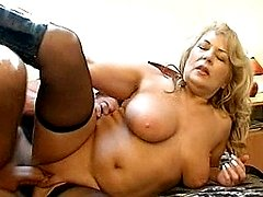 This chubby mama takes that cock for a special ride