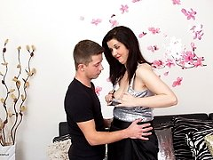 Horny housewife playing with her younger lover