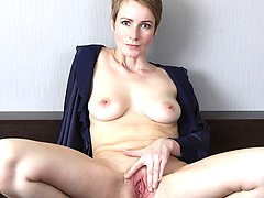 Sweet Nensy three fingers deep in her mature pussy.