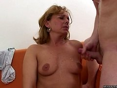 Young, loving son is fucking his mothers horny pussy!