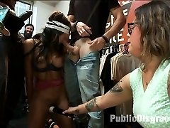 Lexington Steele Joins Public Disgrace in his FIRST EVER KINK.COM SHOOT. Watch as he parades his...