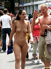Chrissy naked in public streets