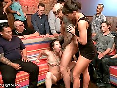 When members saw Casey Calvert getting her ass licked by Roxy Rox  for Roxy's public Disgrace, they demanded we put her in a PD for herself.(http://www.publicdisgrace.com/site/clips_flash.jsp?shootId=35539) So here she is! Casey Calvert is the perfect girl next door. Who knew what a perverted little whore she truly was!!! Casey has no problem putting up with the humiliation of getting fucked in public. Her tight little pussy gets pounded until it is red, she eats pussy and takes huge cock deep down her ass-hole and begs for more.