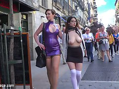 Part 1 - Zenda Sexy: Walk of ShameThe beautiful, busty Zenda Sexy is back for more disgrace. How much further down this humiliating path of disgrace can she go. First up is her walk of shame. This gorgeous slut strips down for everyone to see as she crawls around on the filthy streets.Part 2 - Huge Cocks Bring Tears of PleasureFinally Mistress gets her play toy in the right outfit, just in time for a huge crowd to laugh and humiliate this pathetic slut. Huge cocks stuffed in her mouth bring beautiful tears of pleasure. Hard deep fucking gets the crows wild!