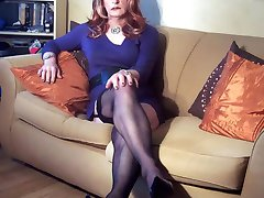 Hot and very horny crossdressers wearing slutty lingerie and stockings