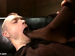 Natassia is in extreme Dom greatness mode. She pushes around a club patron who thinks twenty dollar tips means he can ask for a little extra. Natassia makes it ass-fuckingly clear that she can not be bought, and that this feeble attempt will end with his ass spread, taking her load after a stretching fuck.  Natassia takes her little man toy into the shower and milks him, feeds him his cum and then shoves a dollar bill in his ass hole to remind him that sex has a price.