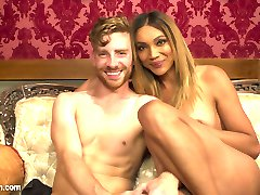 Yasmin Lee packs a hard punch with her huge hard cock POV style making you part of the action! Sebastian is made into her sex slave taking every inch of her cock in his holes, literally taking his breath away with every hard pump and thrust of her cock! In the end, and only like Yasmin Lee can, she shoots such a big load all over his face that you feel like you're covered in her juices too!
