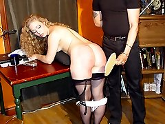 Pretty housewife punished on her well rounded sexy ass